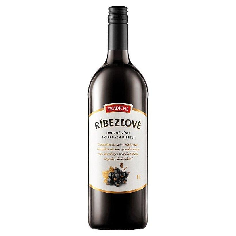 Tradičné ríbezľové ovocné víno z čiernych ríbezlí 1 l