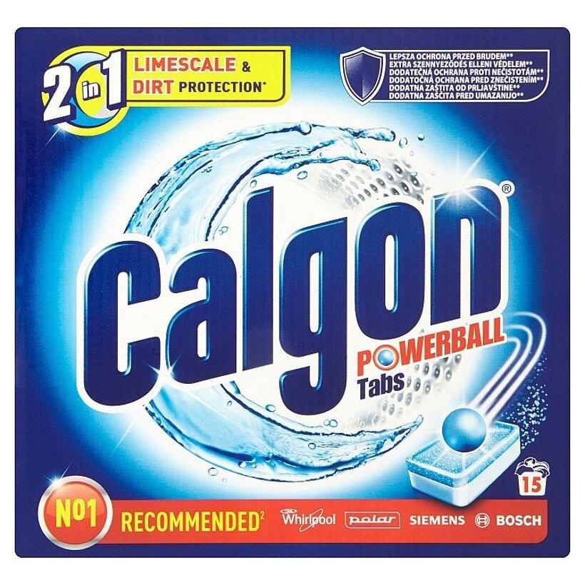 Calgon Powerball 2 v 1 tablety - zmäkčovač vody 15 ks 195 g