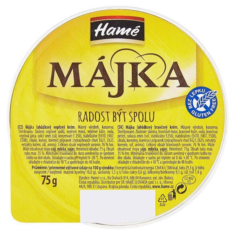 Hamé Májka Lahôdkový bravčový krém 75 g