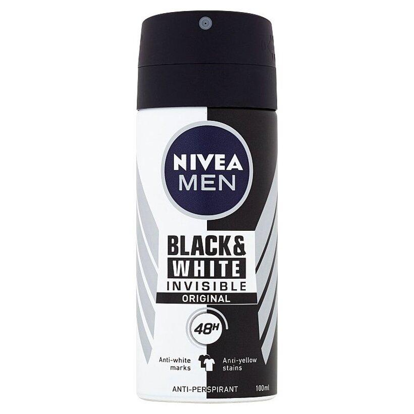 Nivea Men Black & White Invisible Original Sprej antiperspirant 100 ml