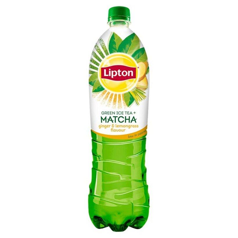 Lipton Ice Tea Matcha ľadový čaj zelený s príchuťou zázvoru a citrónovej trávy 1,5 l