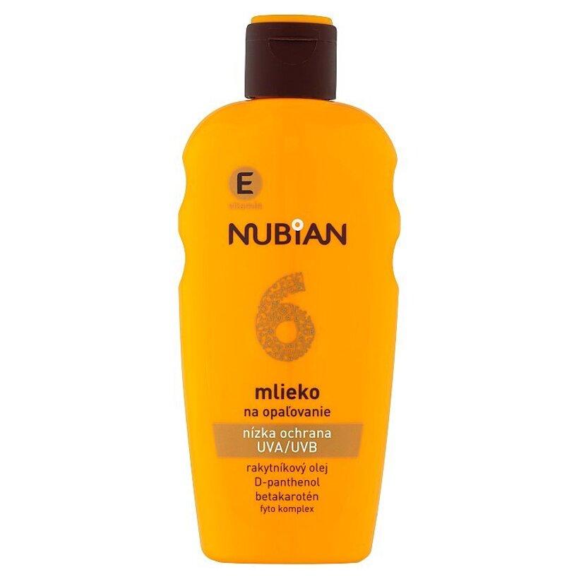 Nubian Mlieko na opaľovanie SPF 6 200 ml
