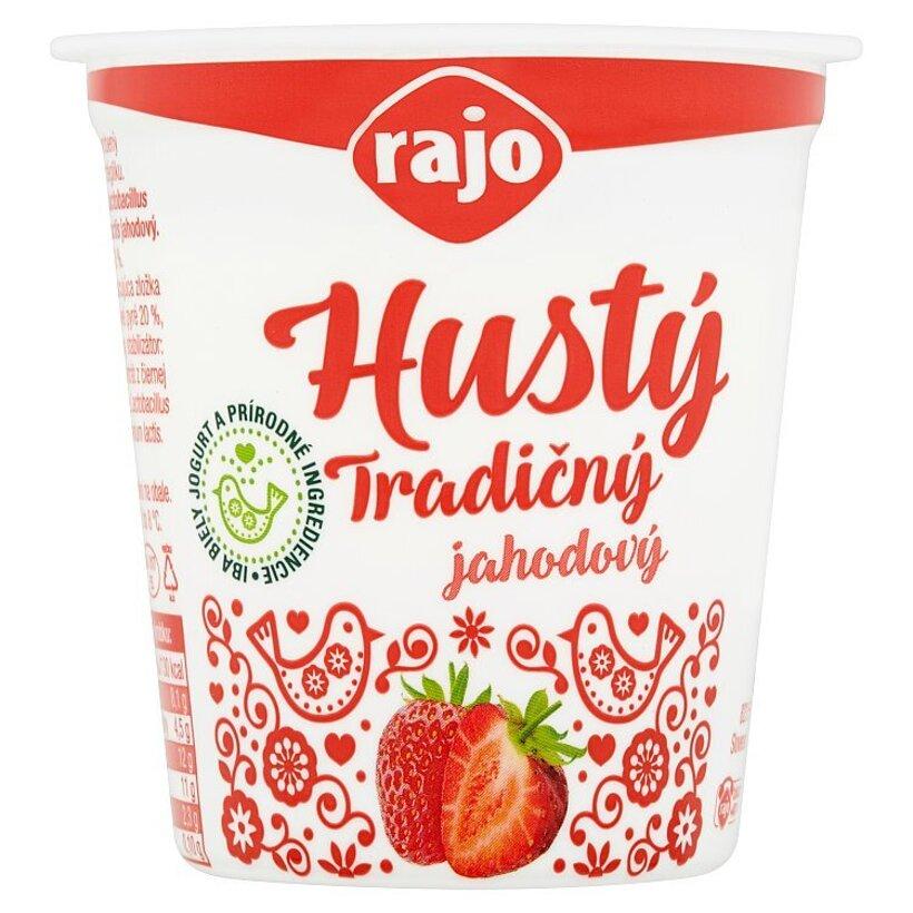 Rajo Hustý tradičný jahodový jogurt 145 g
