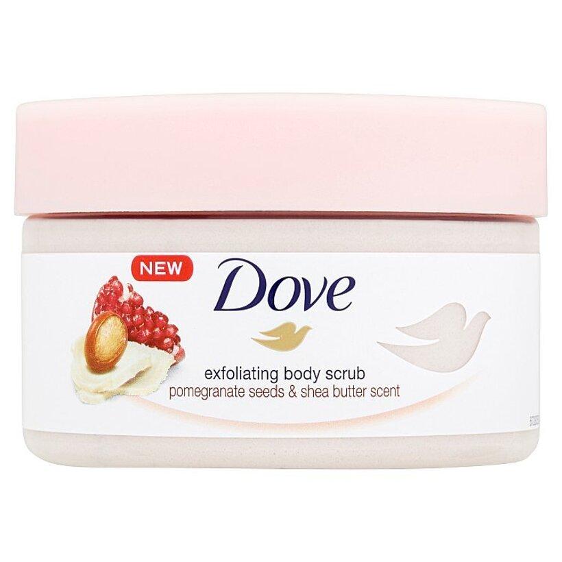 Dove Pomegranate Seeds & Shea Butter Scent exfoliačný peeling 225 ml