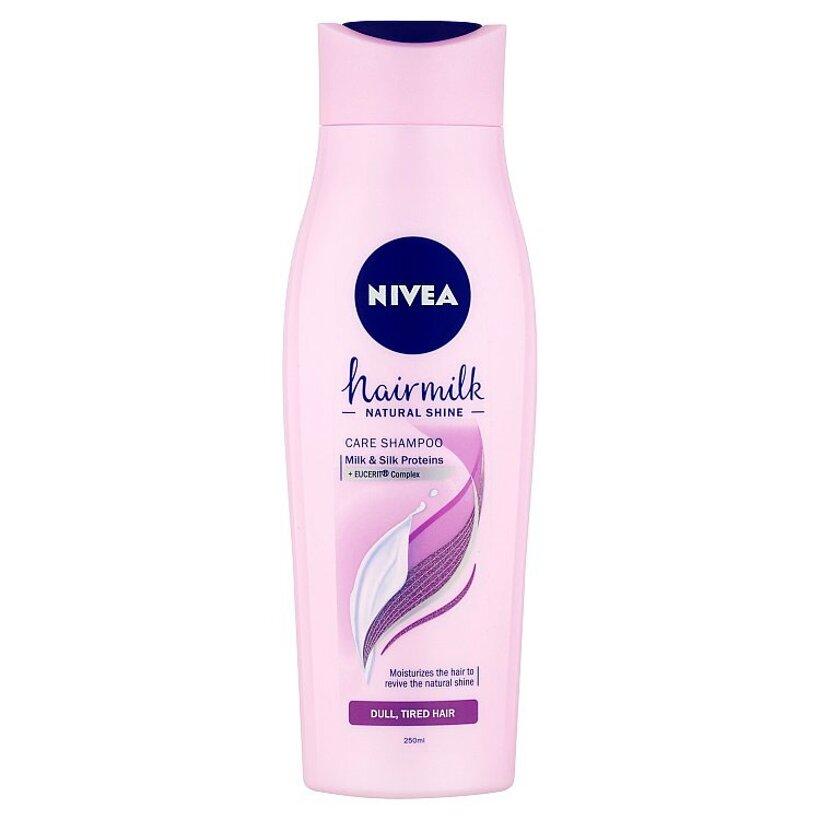 Nivea Hairmilk Natural Shine Ošetrujúci šampón 250 ml