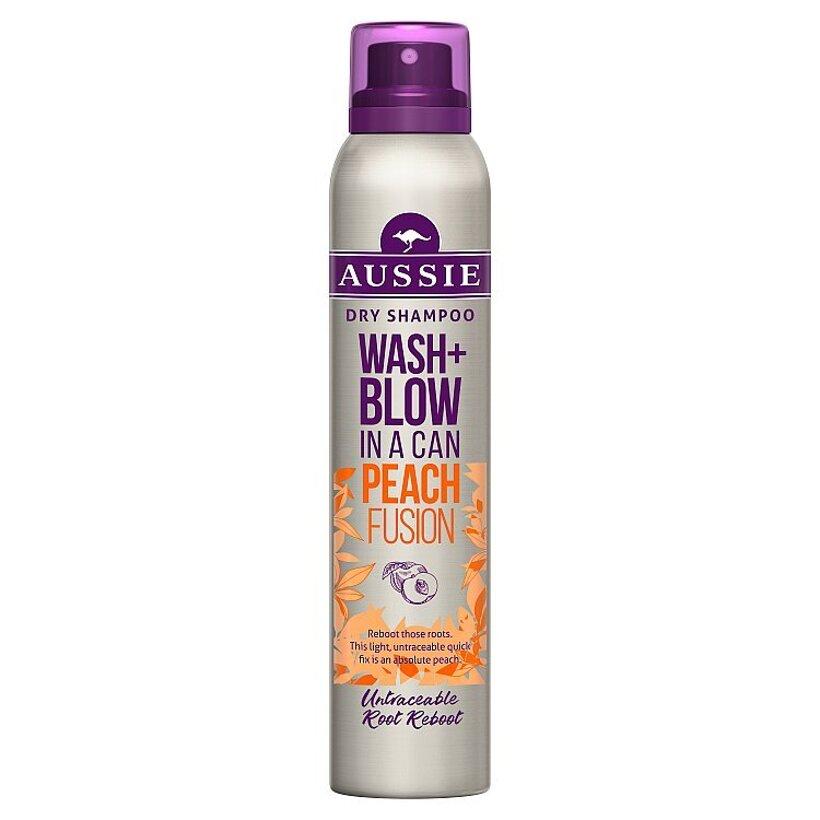 Aussie Wash + Blow Peach Fusion Suchý Šampón 180 ml
