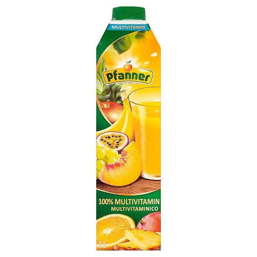 Pfanner 100% multivitamínová viacdruhová ovocná šťava 1 l