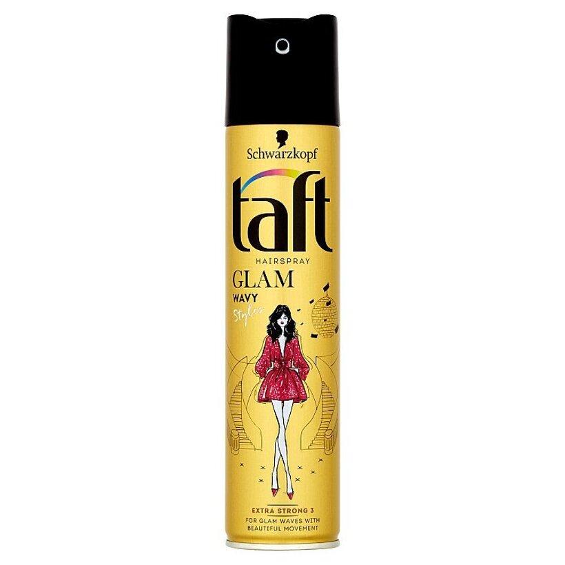 Taft Glam Wavy Styles lak na vlasy Extra Strong 3 250 ml