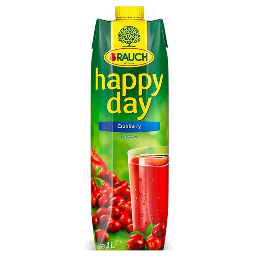 Rauch Happy Day Brusnicový nápoj 1 l