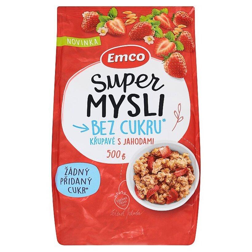 Emco Super Mysli Bez cukru chrumkavé sjahodami 500 g