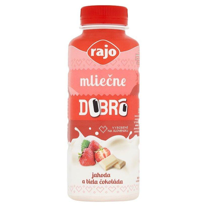 Rajo Dobrô Mliečne jahoda a biela čokoláda 350 ml