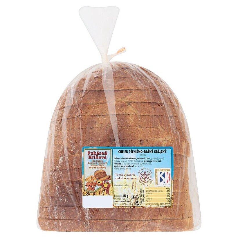 Pekáreň Hriňová Chlieb pšenično-ražný krájaný 480 g