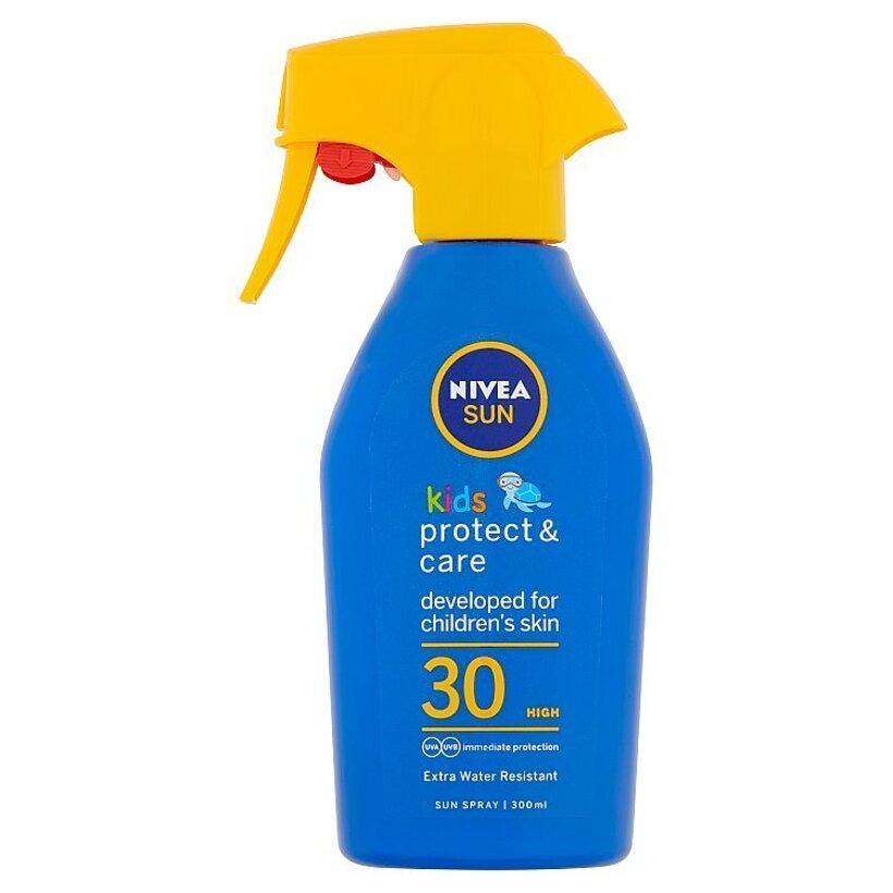Nivea Sun Protect & Care Detský sprej na opaľovanie OF 30 300 ml