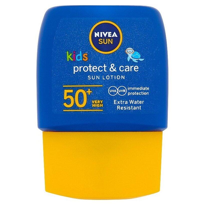 Nivea Sun Protect & Care Vreckové detské mlieko na opaľovanie OF 50+ 50 ml