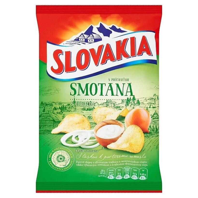 Slovakia Chips S príchuťou smotana s cibuľou 70 g