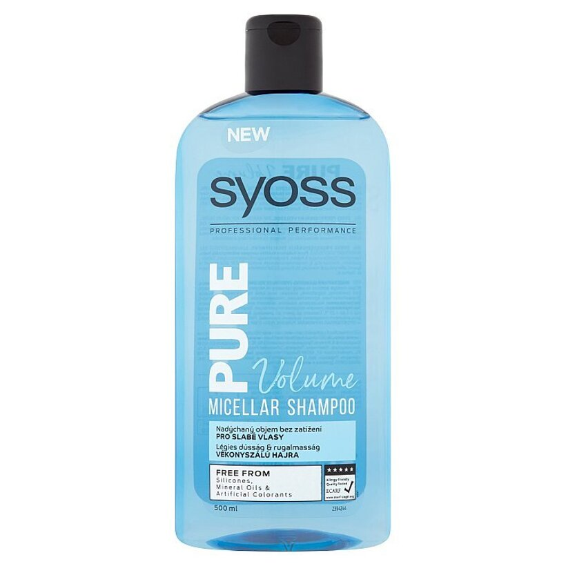 Syoss Pure Volume micelárny šampón 500 ml