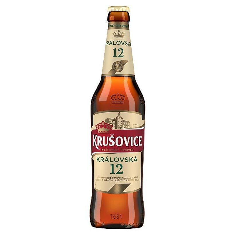 Krušovice Královská 12 pivo svetlý ležiak 0,5 l