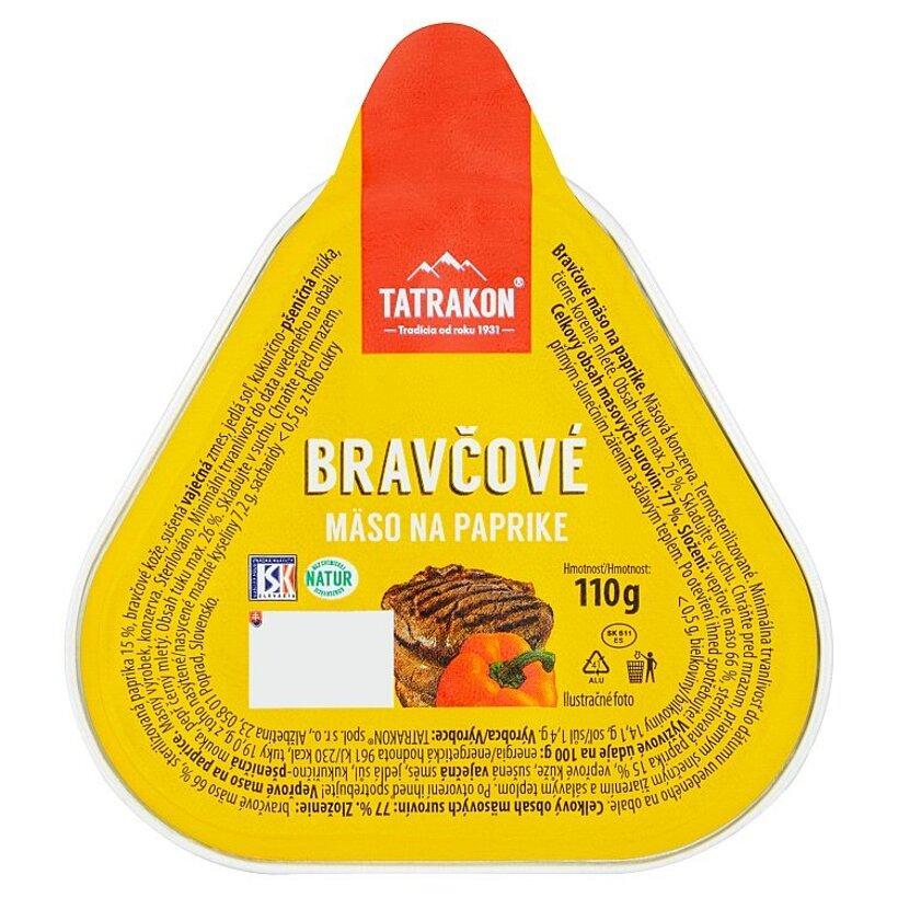 Tatrakon Bravčové mäso na paprike 110 g