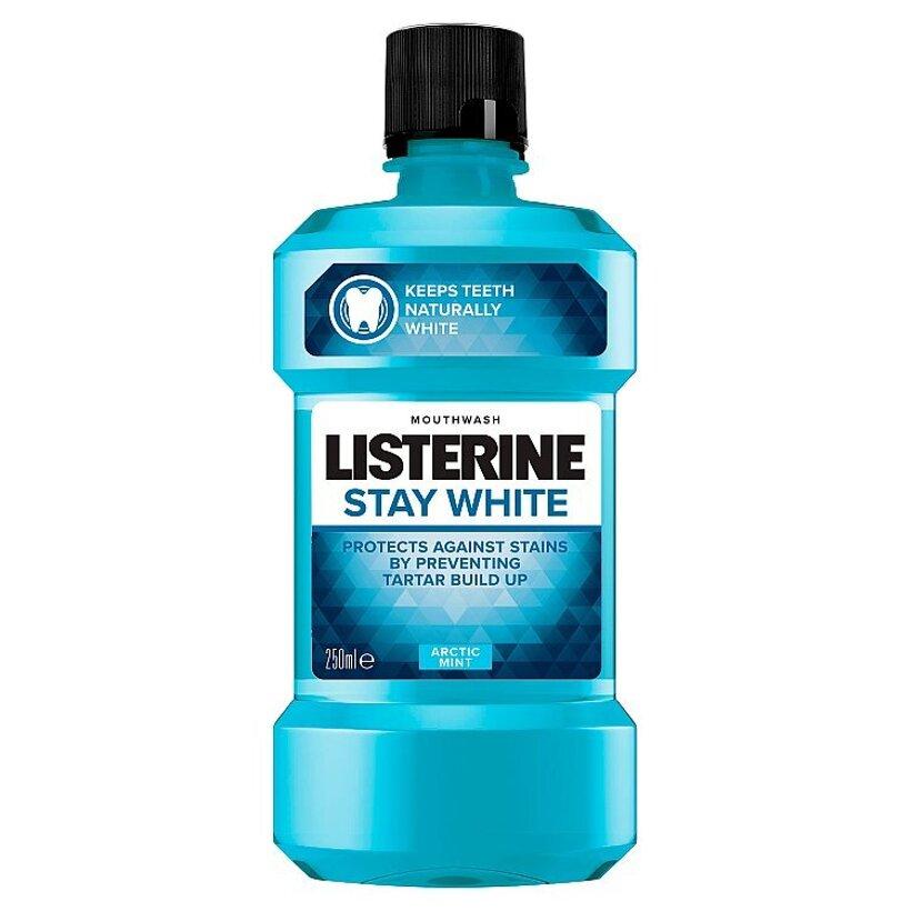 Listerine Stay White Arctic Mint ústna voda 250 ml