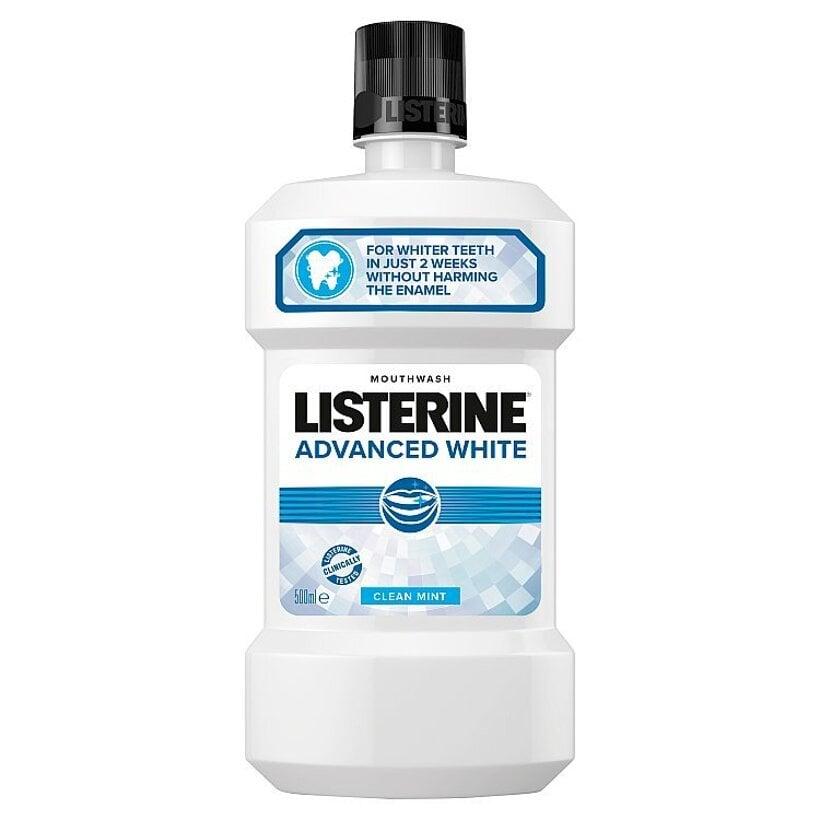Listerine Advanced White Clean Mint ústna voda 500 ml
