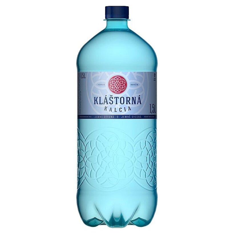 Kláštorná Kalcia Prírodná minerálna voda jemne sýtená 1,5 l