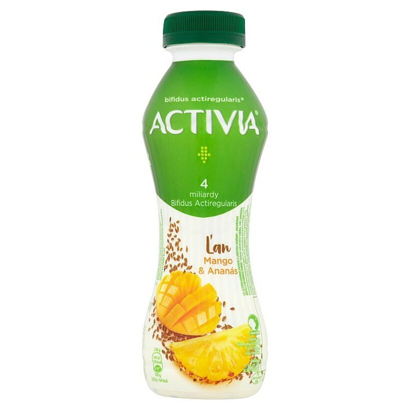 Danone Activia Ľan mango & ananás jogurtový nápoj 280 g