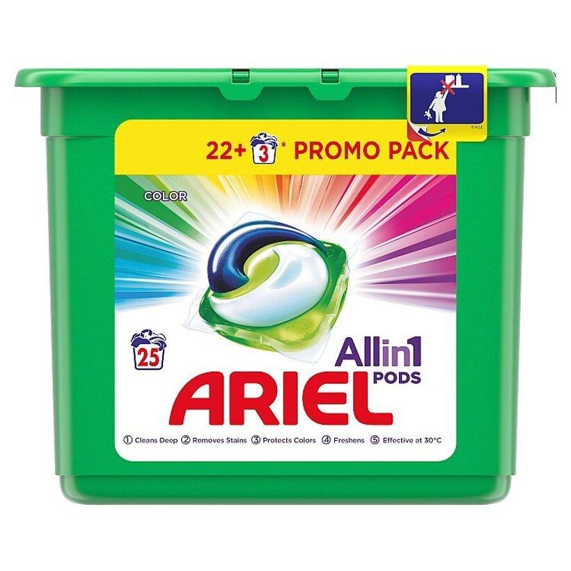Ariel All In 1 Pods Color, Gélové Kapsuly Na Pranie, 25 Praní