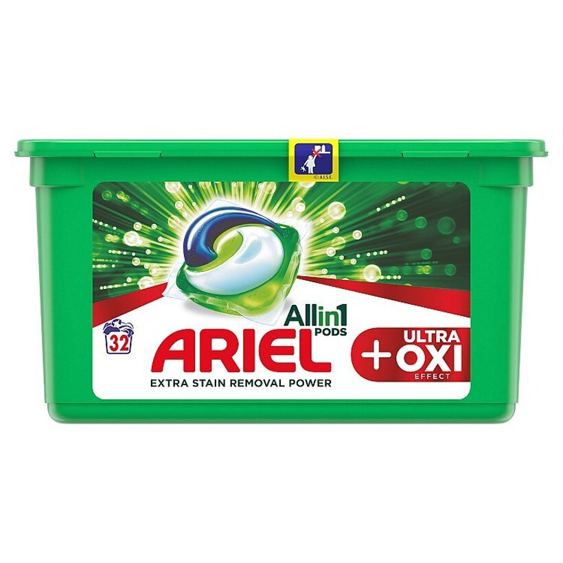 Ariel All In 1 Pods +OXI Effect Gélové Kapsuly Na Pranie 32 Praní