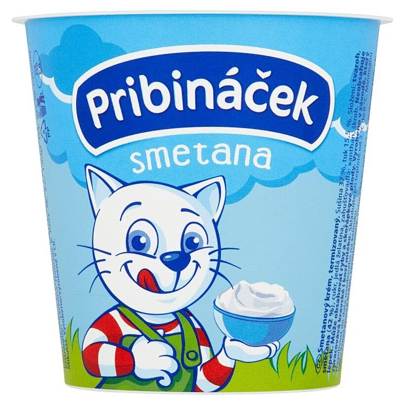 Pribináček Smetana 125 g