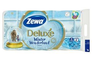 Zewa Deluxe Winter Wonderland toaletný papier 3-vrstvový 8 ks