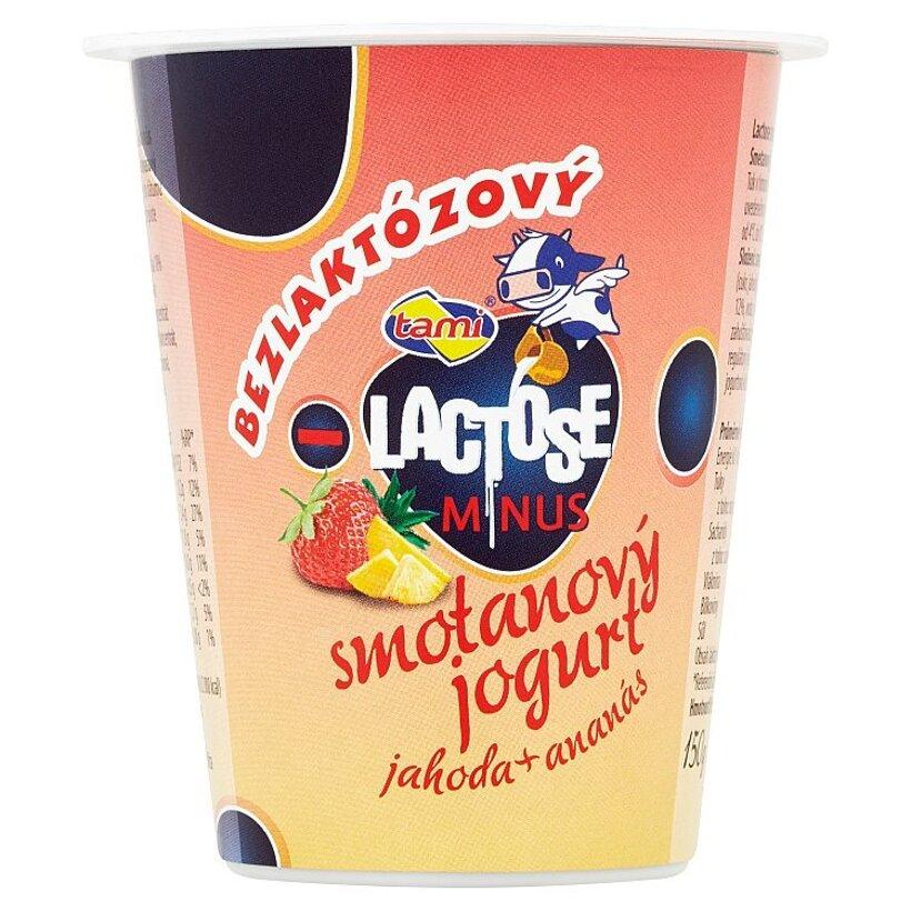 Tami Lactose minus Smotanový jogurt jahoda + ananás 150 g