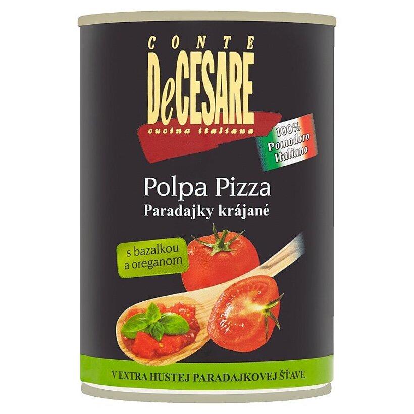 Conte DeCesare Polpa Pizza paradajky krájané s bazalkou a oreganom 400 g