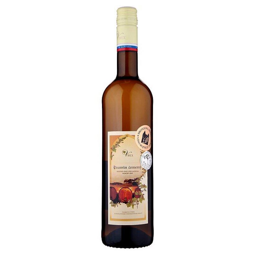 Virex Tramín červený akostné víno s prívlastkom neskorý zber biele suché 0,75 l