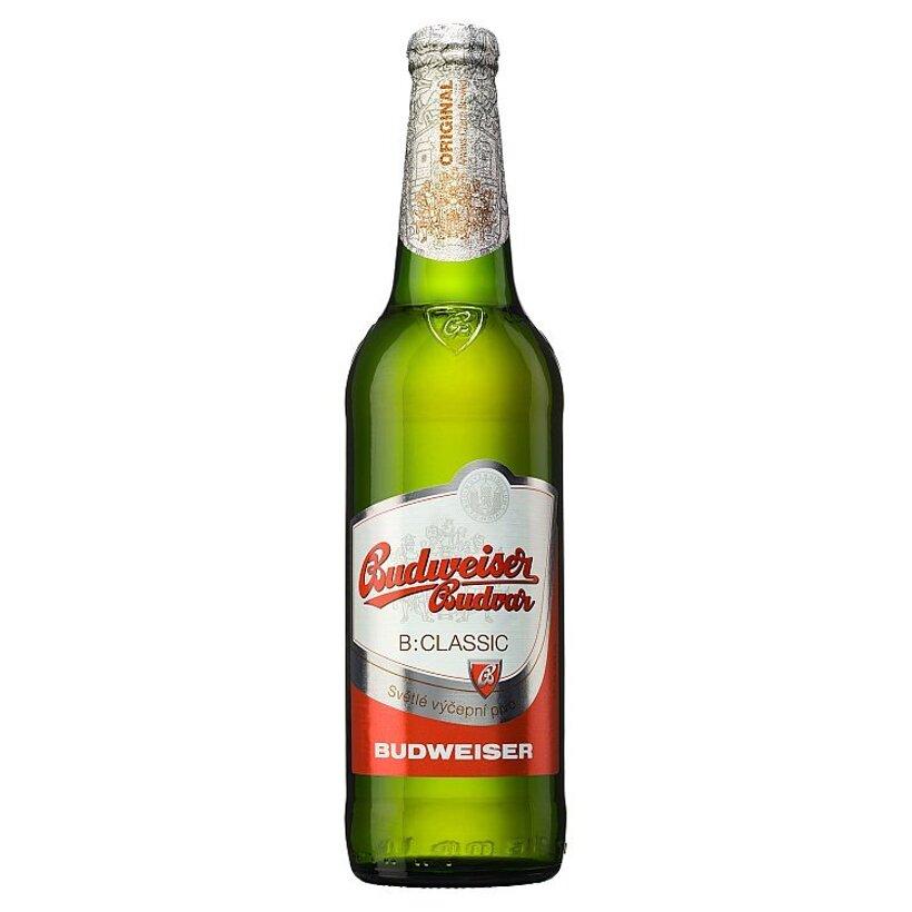Budweiser Budvar B:Classic svetlé výčapné pivo 0,5 l