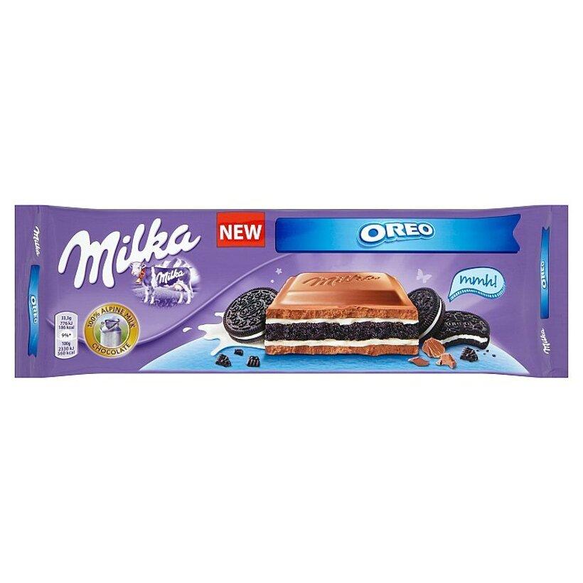 Milka Oreo kakaová sušienka v mliečnej čokoláde z alpského mlieka 300 g