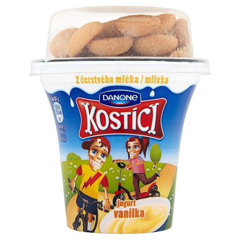 Danone Kostíci Jogurt vanilka a minipiškóty 107 g