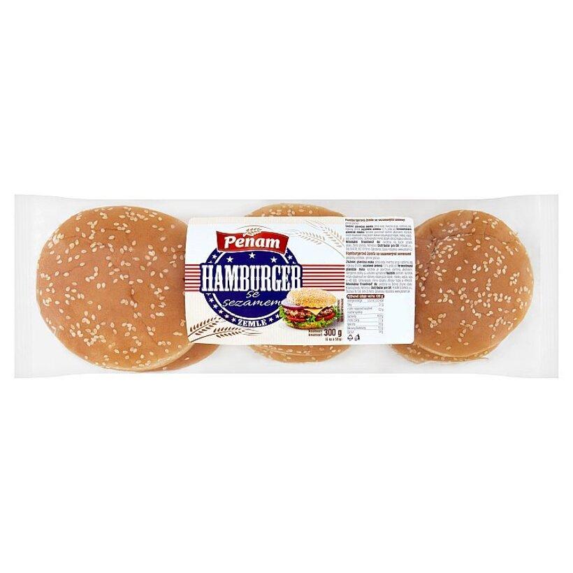 Penam Hamburgerová žemľa so sezamovými semenami 300 g