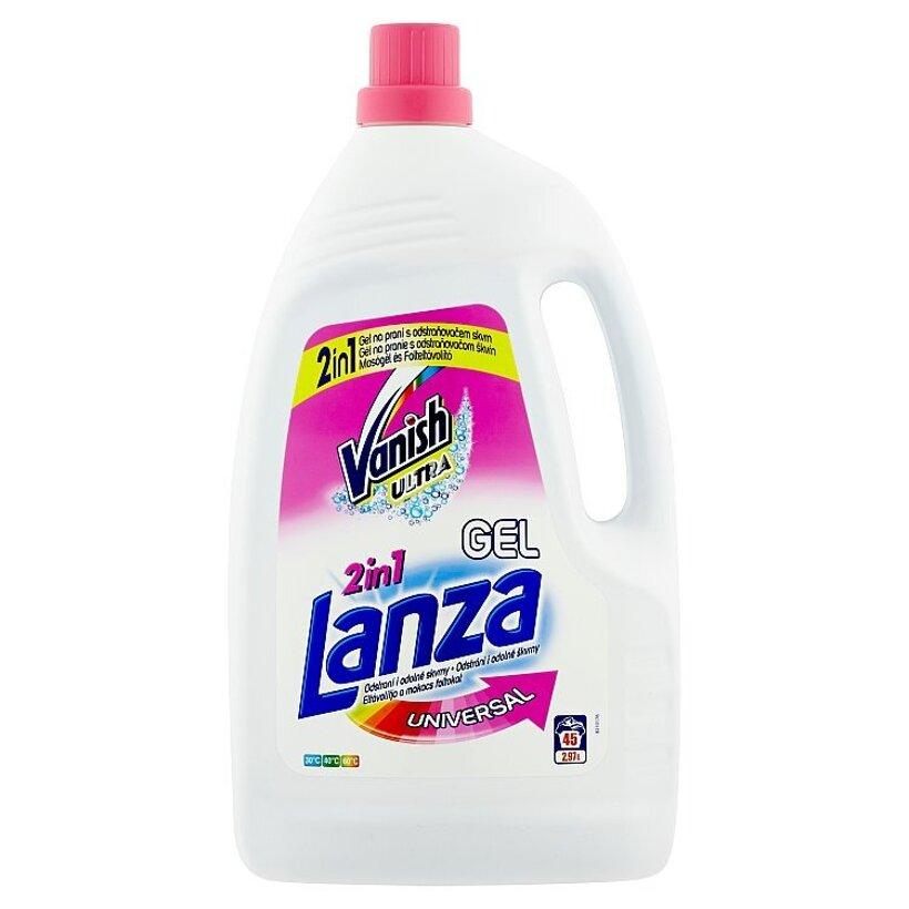 Lanza Vanish Ultra 2in1 universal gél na pranie s odstraňovačom škvŕn 45 praní 2,97 l