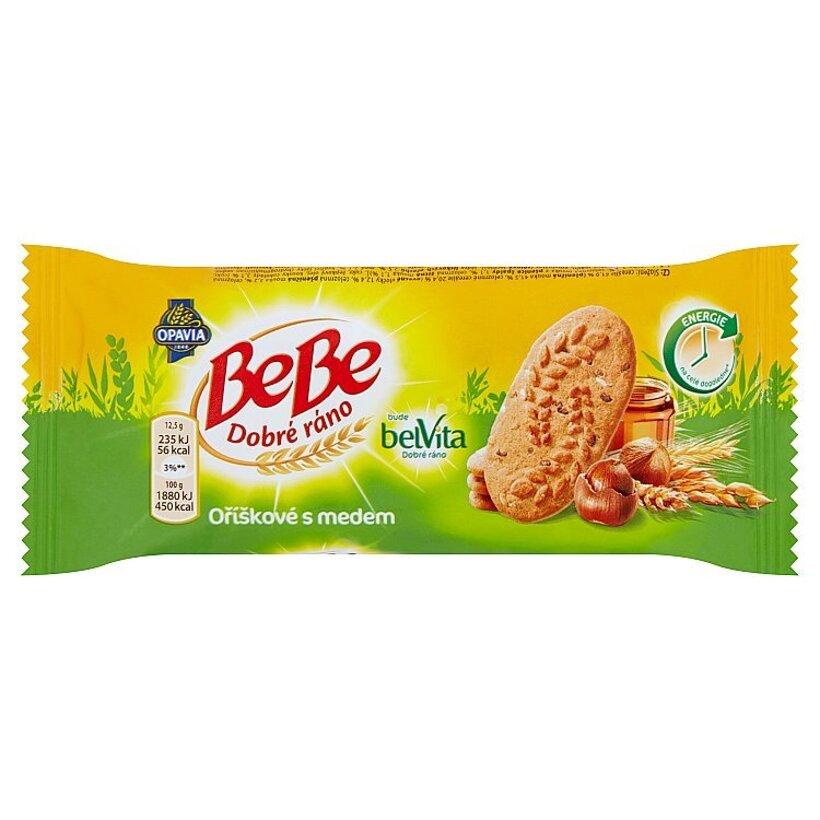 Opavia BeBe Dobré ráno cereálne sušienky s lieskovými orechami a medom 50 g