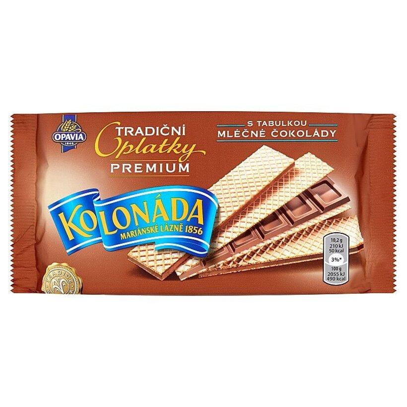 Opavia Kolonáda Oblátky plnené tabuľkou mliečnej čokolády 92 g