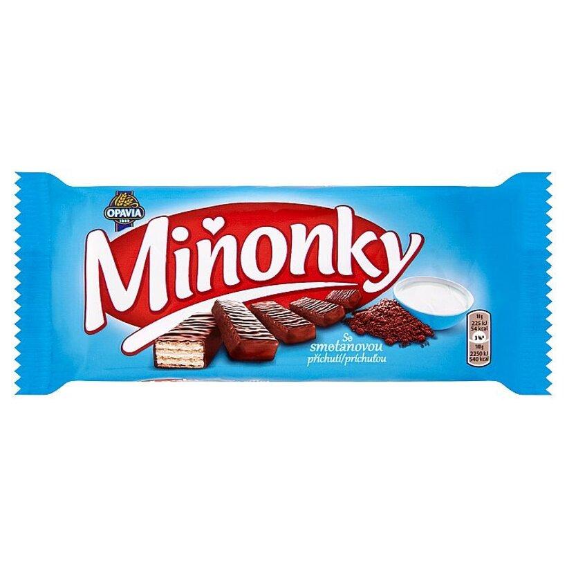 Opavia Miňonky Oblátky so smotanovou príchuťou celomáčané v mliečno-kakaovej poleve 50 g