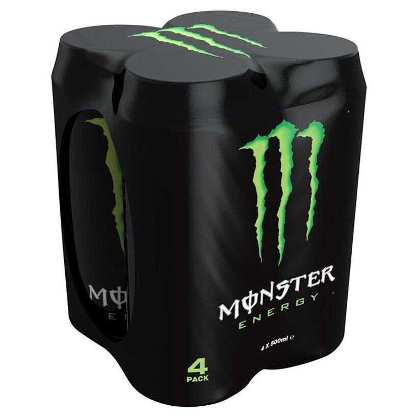 Monster Energy Sýtený energetický nápoj 4 x 500 ml