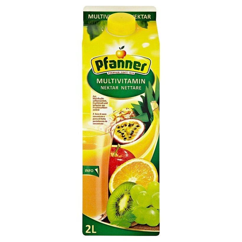 Pfanner Multivitamínový viacdruhový ovocný nektár 2 l