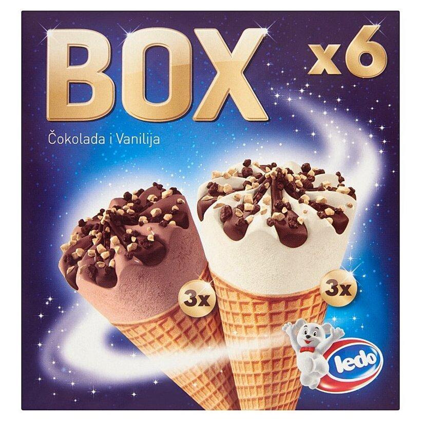Ledo Box mrazený krém 6 x 120 ml
