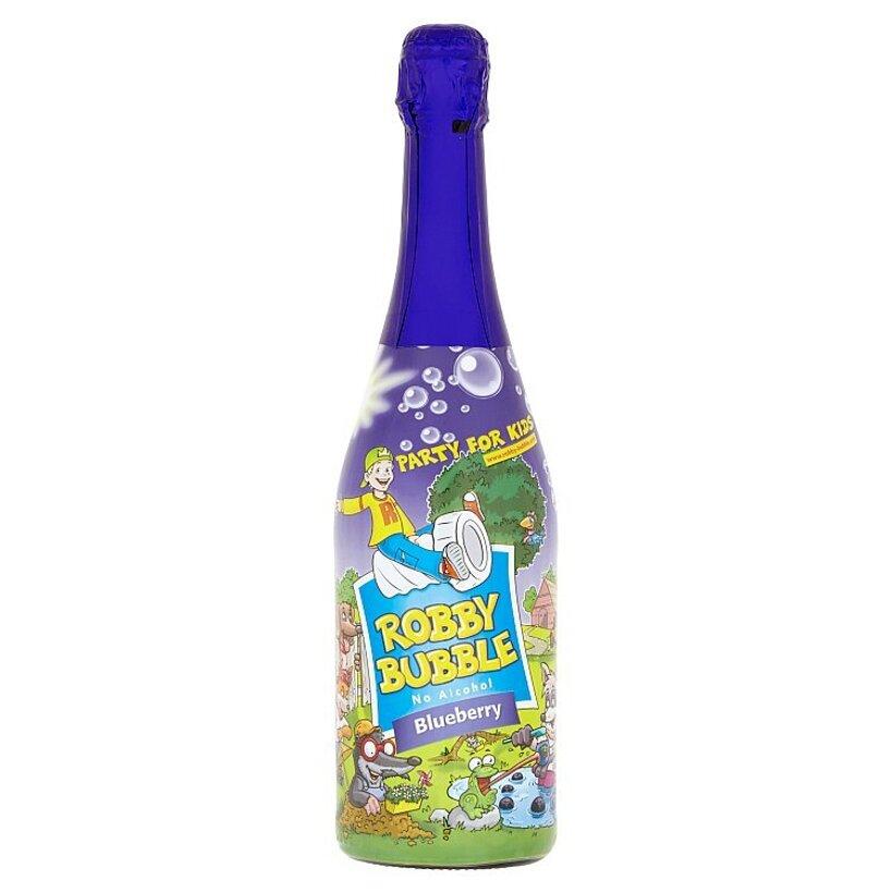 Robby Bubble Blueberry sýtený nealkoholický nápoj ochutený 0,75 l