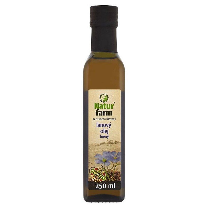 Natur Farm Ľanový olej za studena lisovaný 250 ml