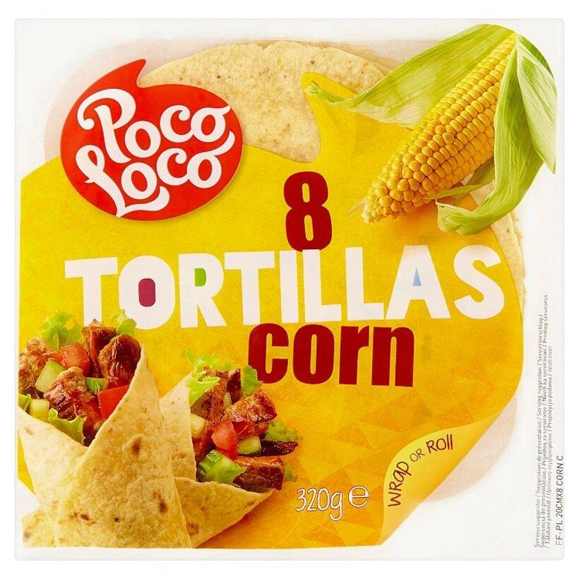 Poco Loco 8 tortíll s kukuričnou múkou 320 g