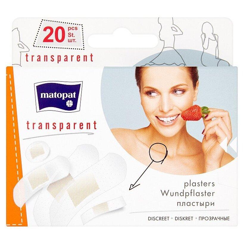 Matopat transparent Transparentné náplasti s vankúšikom 20 ks