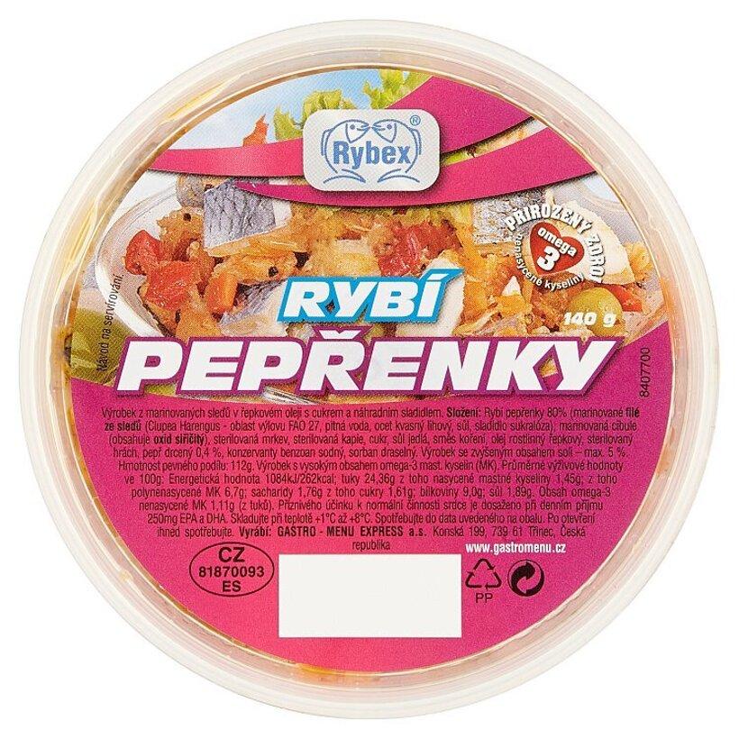 Rybex Peprenky korenené filety 140 g