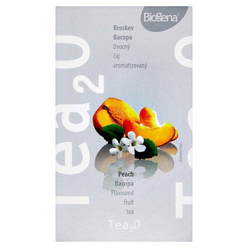 Biogena Tea₂O Broskyňa & bacopa ovocný čaj aromatizovaný 20 x 2,5 g